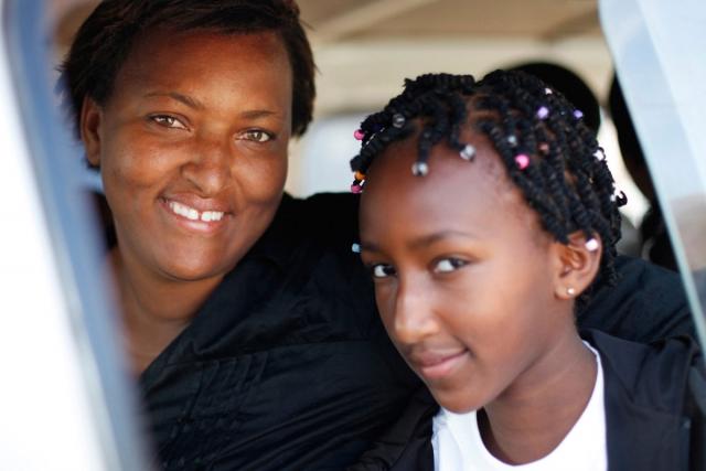 Claudine mit Tochter